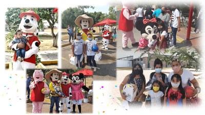 Celebración del evento del dia del niño 2021 en Celay